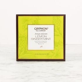 Gryphon Tea Lemon Ginger Mint, Herbal tisane, Caffeine-free tea, Peppermint, Lemon Myrtle, Artisanal tea